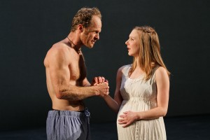 "Hans Altwies as Mark Antony and Sydney Andrews as Octavia in Seattle Shakespeare Company's 2012 production of ""Antony and Cleopatra."" Photo by John Ulman."