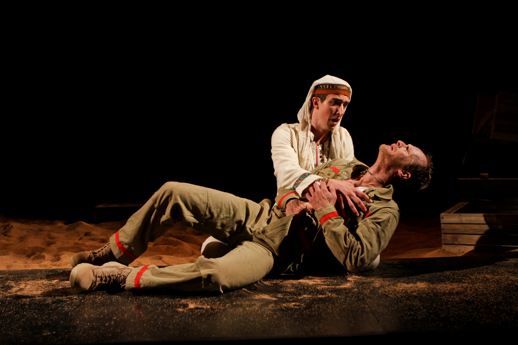 """Adam Standley and Hans Altwies in Seattle Shakespeare Company's 2012 production of """"Antony and Cleopatra."""" Photo by John Ulman."""