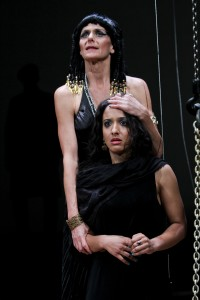 "Amy Thone and Allison Strickland in Seattle Shakespeare Company's 2012 production of ""Antony and Cleopatra."" Photo by John Ulman."