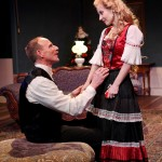 """Michael Patten as Torvald and Jennifer Sue Johnson as Nora in Seattle Shakespeare Company's 2013 production of """"A Doll's House."""" Photo by John Ulman."""