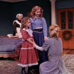 """Jody McCoy as Anne-Marie, Mia Banham as Cathrine, Tessa Weinland as Emmie, and Jennifer Sue Johnson as Nora in Seattle Shakespeare Company's 2013 production of """"A Doll's House."""" Photo by John Ulman."""