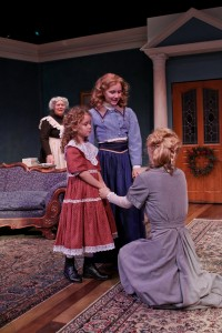 Jody McCoy as Anne-Marie, Mia Banham as Cathrine, Tessa Weinland as Emmie, and Jennifer Sue Johnson as Nora in Seattle Shakespeare Company&#039;s 2013 production of &quot;A Doll&#039;s House.&quot; Photo by John Ulman.
