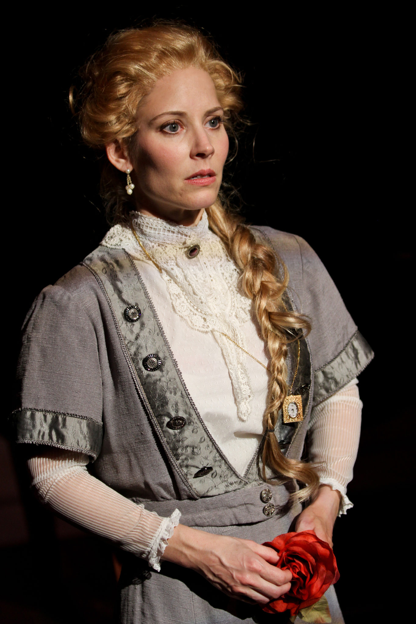 "Jennifer Sue Johnson as Nora in Seattle Shakespeare Company's 2013 production of ""A Doll's House."" Photo by John Ulman."