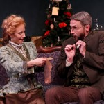 """Jennifer Sue Johnson as Nora and George Mount as Dr. Rank in Seattle Shakespeare Company's 2013 production of """"A Doll's House."""" Photo by John Ulman."""