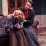 """Jennifer Sue Johnson as Nora and Betsy Schwartz as Mrs. Linde in Seattle Shakespeare Company's 2013 production of """"A Doll's House."""" Photo by John Ulman."""