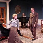 """Jennifer Sue Johnson as Nora and Michael Patten as Torvald in Seattle Shakespeare Company's 2013 production of """"A Doll's House."""" Photo by John Ulman."""