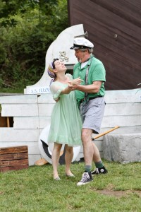Jesica Avellone as Maria and Jim Gall as Sir Toby Belch in Seattle Shakespeare Company&#039;s 2012 Wooden O production of &quot;Twelfth Night.&quot; Photo by John Ulman.