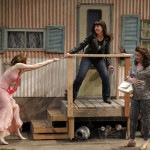 "Brenda Joyner as Bianca, Kelly Kitchens as Kate, and Karen Jo Fairbrook as Mama Baptista in Seattle Shakespeare Company's 2013 production of ""The Taming of the Shrew"" Photo by Chris Bennion."