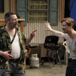 "Keith Dahlgren as Grumio and John Ulman as Hortensio in Seattle Shakespeare Company's 2013 production of ""The Taming of the Shrew"" Photo by Chris Bennion."