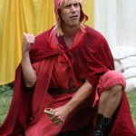 """David Quicksall as Autolycus in in Seattle Shakespeare Company's 2012 Wooden O production of """"The Winter's Tale."""" Photo by Alan Alabastro"""