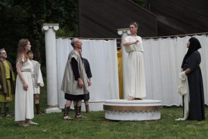 "The cast of Seattle Shakespeare Company's 2012 Wooden O production of ""The Winter's Tale."" Photo by Alan Alabastro"