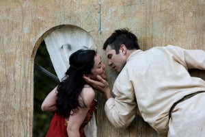"Hana Lass as Juliet and Michael Place as Romeo in ""Romeo and Juliet"" (WO 2008)."