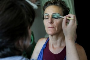 One of Thea's many talents also includes making custom eye-shadow, which she did for this shoot.