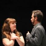 Donna Wood as Jacquenetta and David Quicksall as Don Armado.