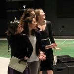 Allie Pratt as Maria, Kayla Lian as Rosaline, Samara Lerman as the Princess of France, and Rebecca Olson as Katharine.