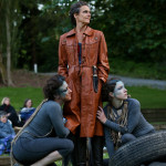"Amy Thone with the Ariels in ""The Tempest"" (Wooden O 2013)"