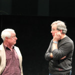 "Peter A. Jacobs as Leonato and Jim Gall as Don Pedro in rehearsal for ""Much Ado About Nothing."""