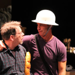 "Keith Dahlgren as one of the Watchmen and David Quicksall as Dogberry in rehearsal for ""Much Ado About Nothing."""