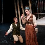 "David Brown-King as Silvius and Hannah Mootz as Phebe in Seattle Shakespeare Company's 2012 production of ""As You Like It."" Photo by John Ulman"
