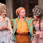 "Rebecca Olson as Celia, Darragh Kennan as Touchstone, and Hana Lass as Rosalind in Seattle Shakespeare Company's 2012 production of ""As You Like It."" Photo by John Ulman"