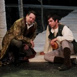 "Keith Dahlgren as Duke Senior and Nathan Graham Smith as Orlando in Seattle Shakespeare Company's 2012 production of ""As You Like It."" Photo by John Ulman"