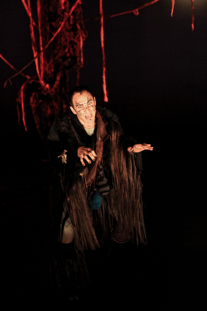 """Chris Ensweiler as Puck in Seattle Shakespeare Company's 2011 production of """"A Midsummer Night's Dream."""""""