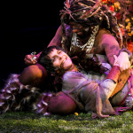 "Amy Thone as Titania and Reginal Andre Jackson as Oberon in Seattle Shakespeare Company's 2011 production of ""A Midsummer Night's Dream."""