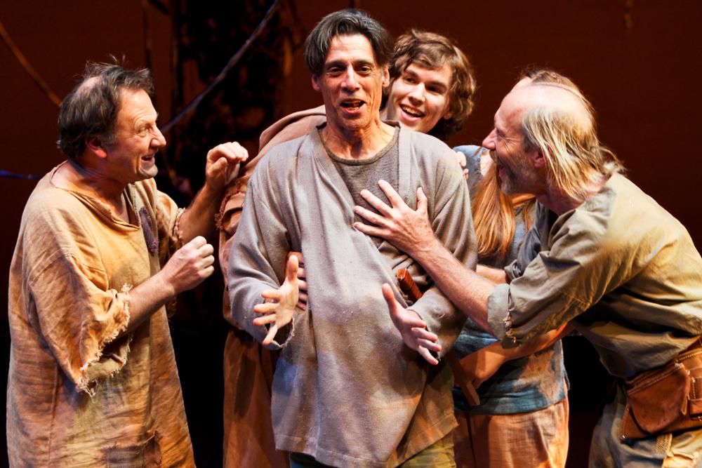 """Gordon Carpenter, Todd Jefferson Moore, Riley Neldam, and Kevin McKeon in """"A Midsummer Night's Dream."""" (2011)"""