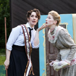 "Vanessa Miller and Chiara Motley in Seattle Shakespeare Company's 2011 Wooden O production of ""The Comedy of Errors."""