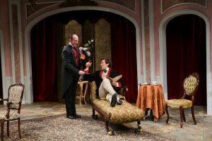 "Michael Patten and Quinn Franzen in Seattle Shakespeare Company's 2014 production of ""The Importance of Being Earnest."" Photo by John Ulman."