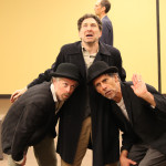 Darragh Kennan as Estragon, Chris Ensweiler as Pozzo, and Todd Jefferson Moore as Vladimir