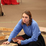 Chesa Greene in rehearsal for Mother Courage and Her Children
