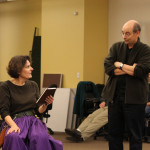 Jeanne Paulsen and Larry Paulsen in rehearsal for Mother Courage and Her Children