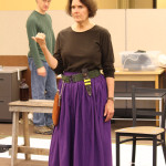 Chad Kelderman and Jeanne Paulsen in rehearsal for Mother Courage and Her Children