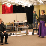 Larry Paulsen and Jeanne Paulsen in rehearsal for Mother Courage and Her Children
