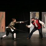 Chesa Greene and Tom Dewey in Romeo and Juliet (tour 2016). Photo: John Ulman
