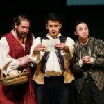 Tom Dewey, Raphael Molina, and Chesa Greene in Romeo and Juliet (tour 2016).