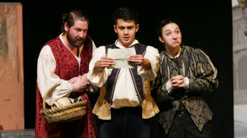 Tom Dewey, Raphael Molina, and Chesa Greene in Romeo and Juliet (tour 2016).
