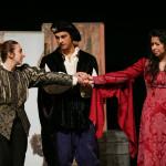 Chesa Greene, Arjun Pande and Yadira Durate in Romeo and Juliet (tour 2016). Photo: John Ulman.